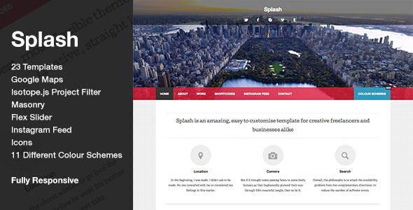 Splash - HTML5 CSS3 Stylish Responsive Template
