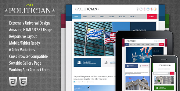 politician-responsive-html5css3-template