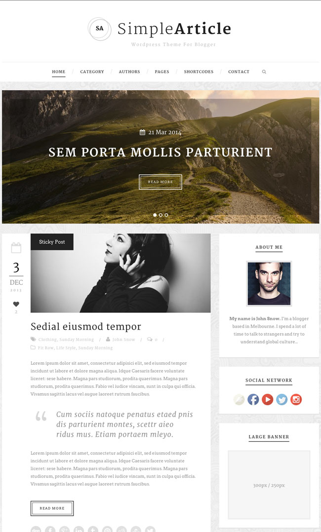 simple-article-wordpress-theme-for-personal-blog