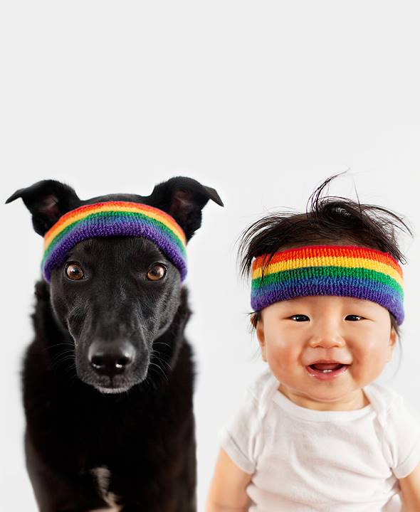 Cute Photos of a Baby and a Dog