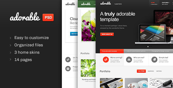 Adorable - Multipurpose PSD template