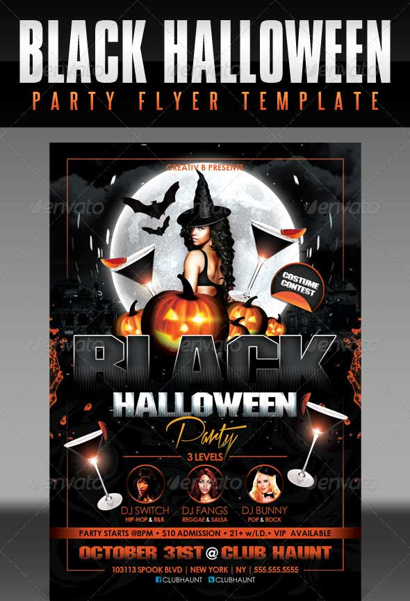 Black-Halloween-Party-Flyer-Template