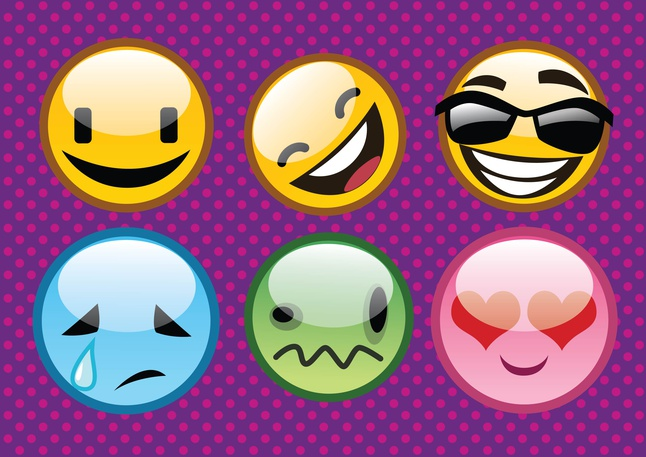 Cool Emoticons vector free