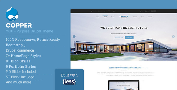 Copper - Responsive Multi-Purpose Drupal Theme