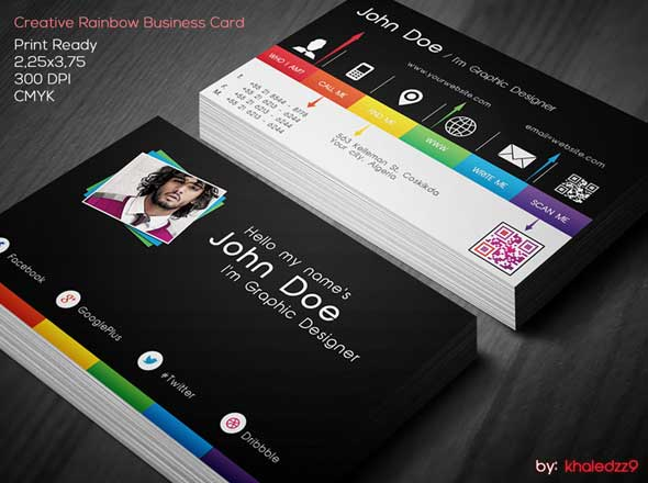 Creative-Rainbow-Business-Card