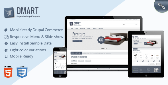 Dmart - Clean and Responsive Drupal Commerce theme