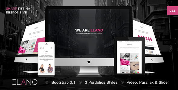 Elano - Sharp Multi-Purpose Responsive Template