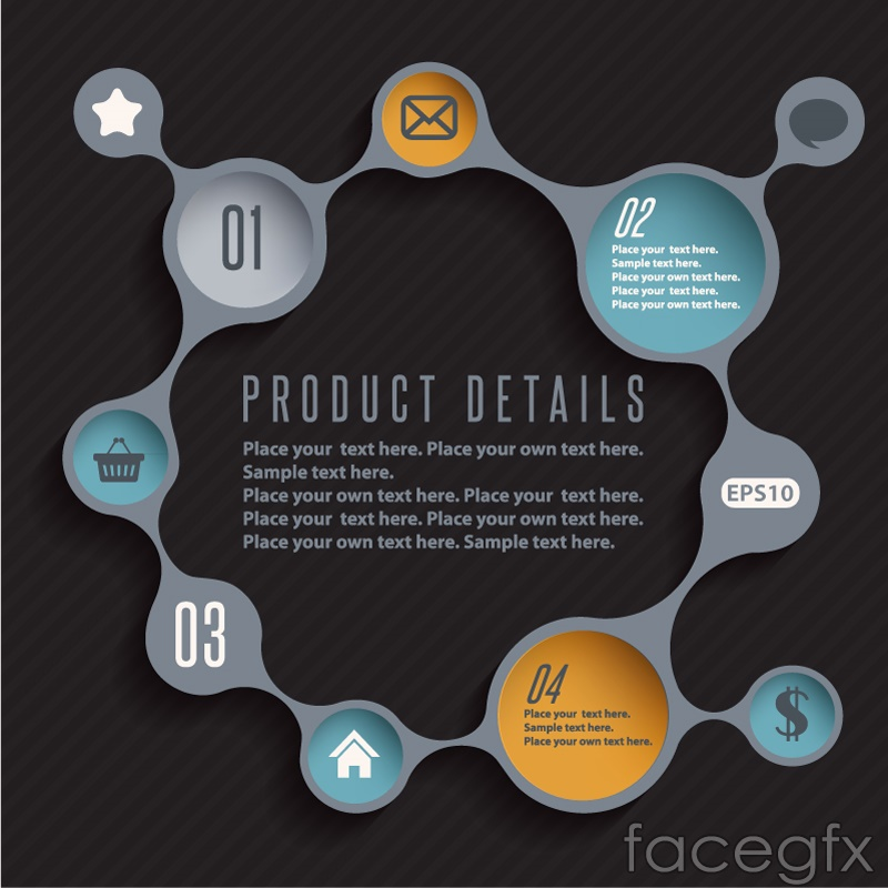 Fashion link infographic vector