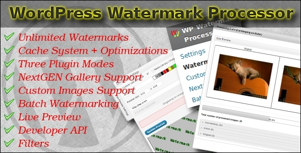 Fast Watermark Plugin for WordPress