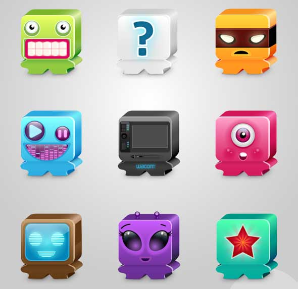 Favorite-Monsters----Free-Emoticons-Smiley-Icon-Pack
