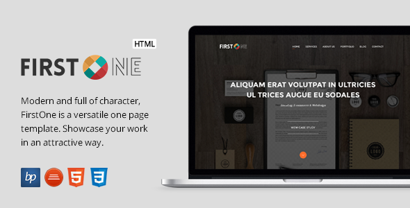 FirstOne - Responsive One Page HTML5 Template