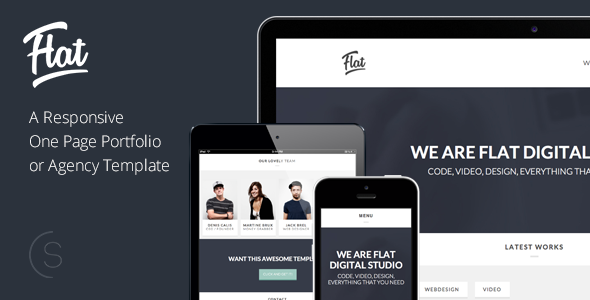 Flat Studio - Responsive One Page HTML Template