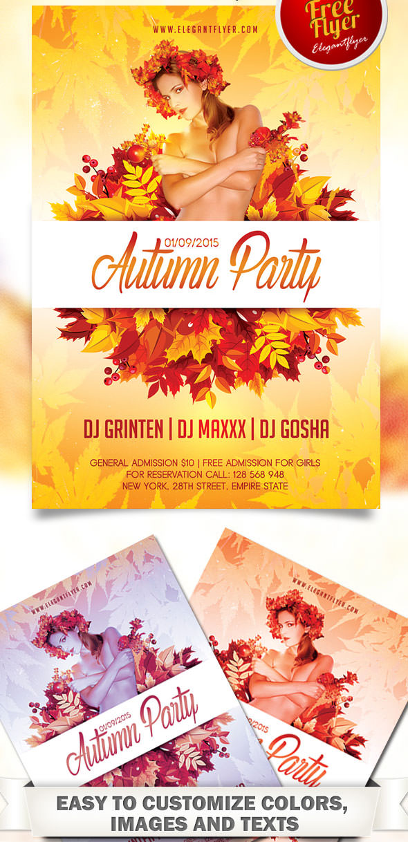 best flyer psd templates designmaz autumn party flyer psd template facebook cover