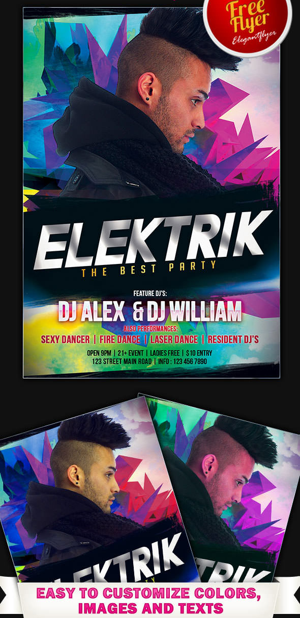 Free-Dj-Elektrik-Flyer-PSD-Template-with-Facebook-Cover