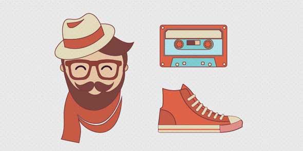 Free-Flat-Hipster-set