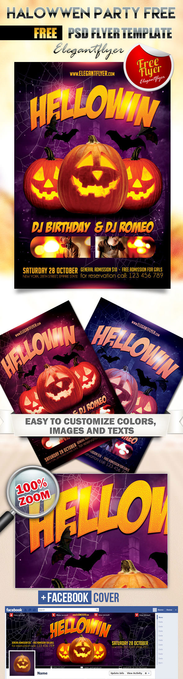 Free-Halloween-Party-Flyer-PSD-Template-and-Facebook-Cover