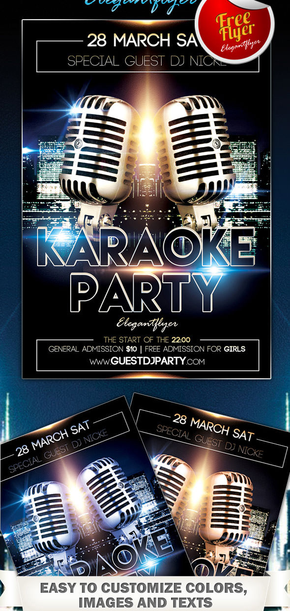 Free-Karaoke-Party-Flyer-PSD-Template-with-Facebook-Cover