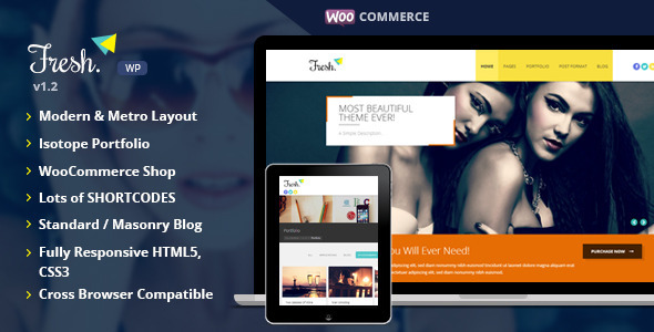 Fresh – Responsive Multi-Purpose WordPress Theme