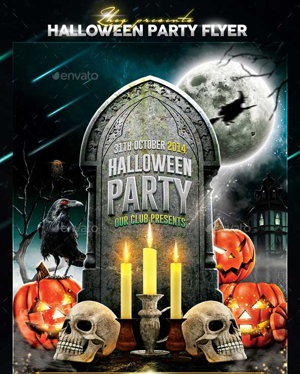 Halloween Party Flyer Template 2