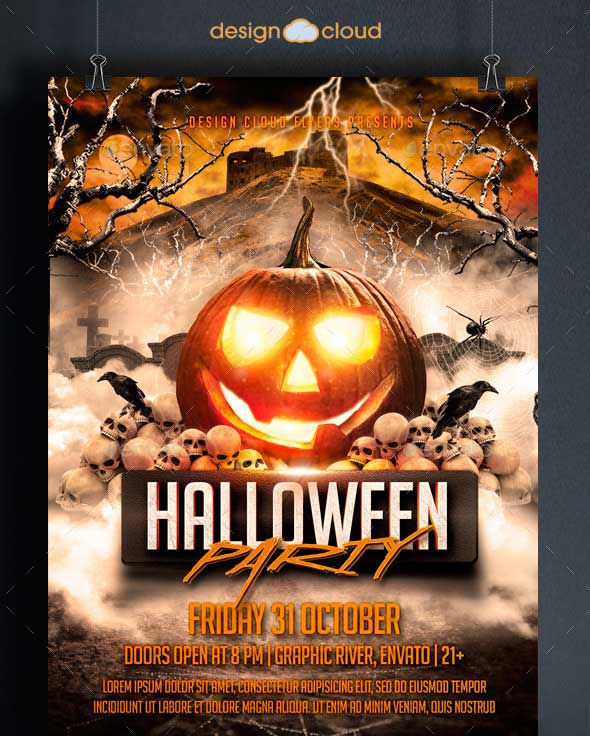 45+ Best Halloween Psd Party Flyer Templates 2016