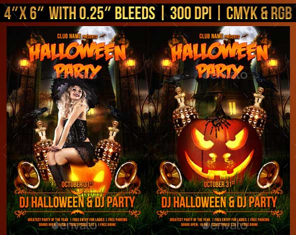 Halloween Party Flyer Template 4