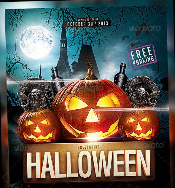 45 best halloween psd party flyer templates 2016 halloween party flyer template 5 saigontimesfo