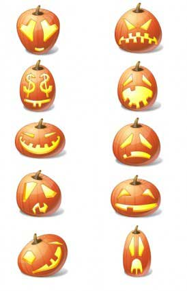 Halloween-Pumpkin-Emoticons-icons-pack