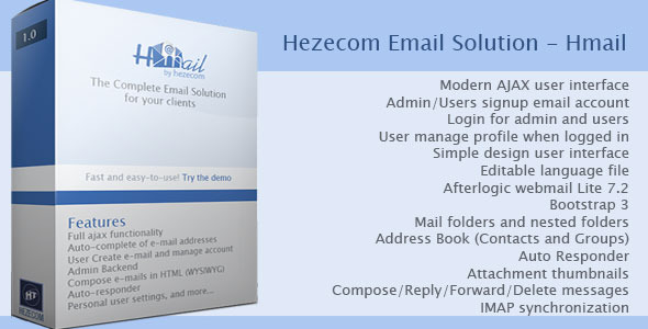 Hezecom Email Solution - Hmail