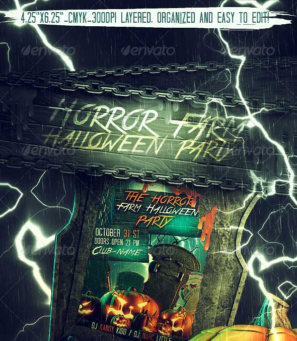 Horror-Farm-Halloween-Party-Flyer