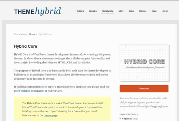 Hybrid-Core-A-WordPress-Theme-Framework