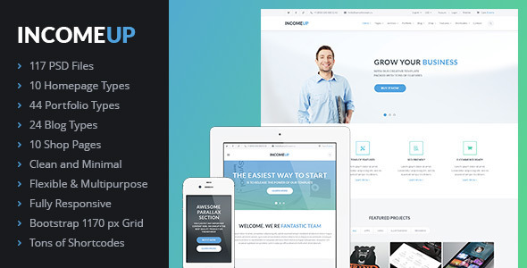 IncomeUp – Multi-purpose Business PSD Template
