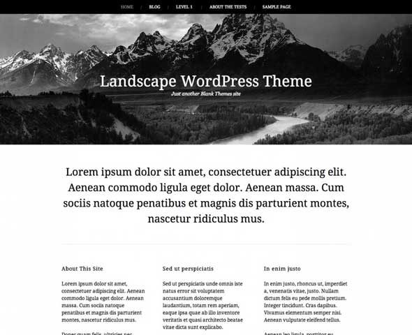 Landscape---Free-Blank-WordPress-Themes