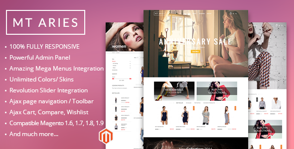 MT Aries responsive magento theme