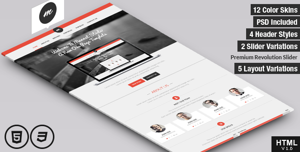Mannat Studio Flat Clean One Page HTML Template