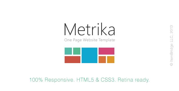 Metrika - Responsive OnePage Template