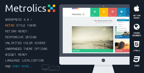 Metrolics - Responsive Metro WordPress Theme