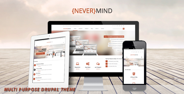 NeverMind- Multi Purpose, eCommerce Drupal Theme