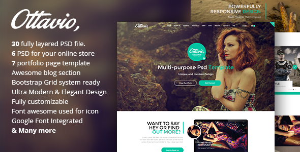 Ottavio - Creative Multi-Purpose PSD Template