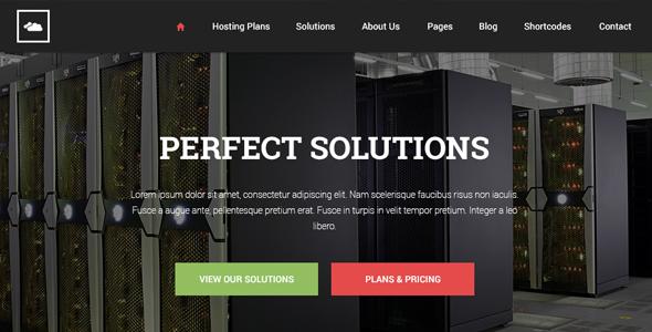 PGL Hosting HTML Template - Flat Design