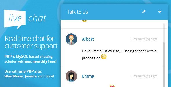 PHP Live Chat (PHP, WordPress, Joomla, Drupal,...)