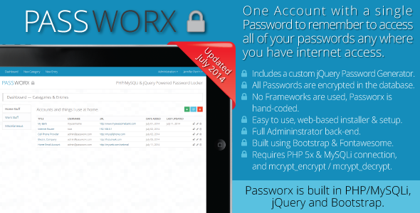 Passworx Password Locker