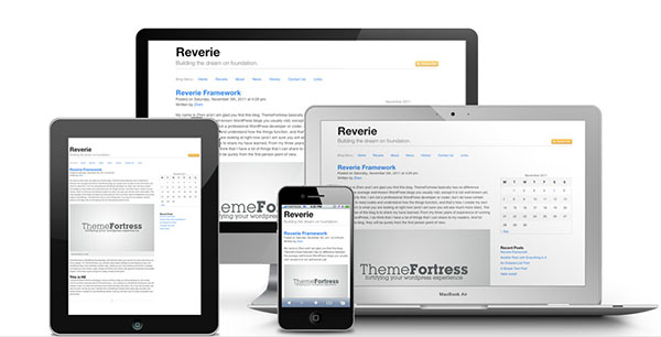 Reverie - Free Blank WordPress Themes