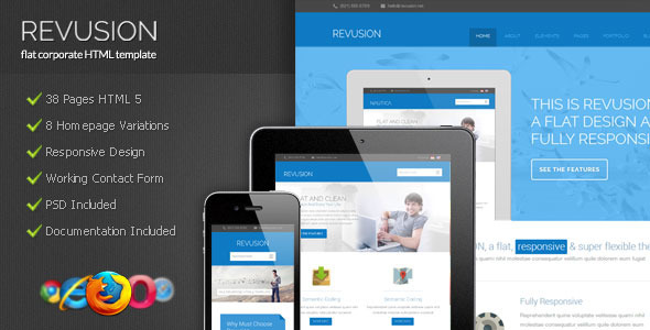 Revusion - Flat Corporate HTML Template