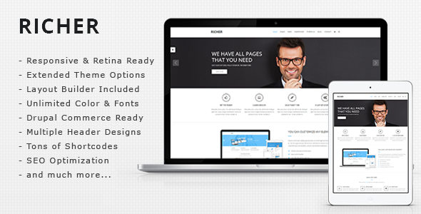 Richer - Multi Purpose, eCommerce Drupal Theme