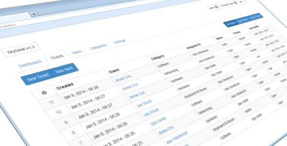 SkyDesk Ticket Management System
