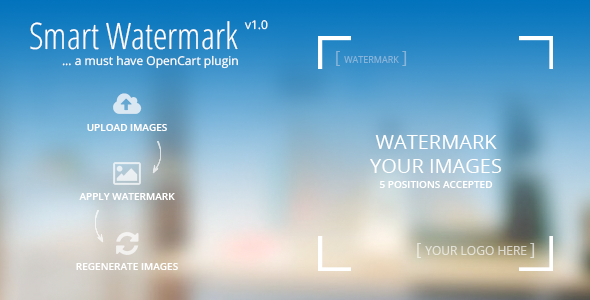 Smart Watermark - A must have Opencart Plugin
