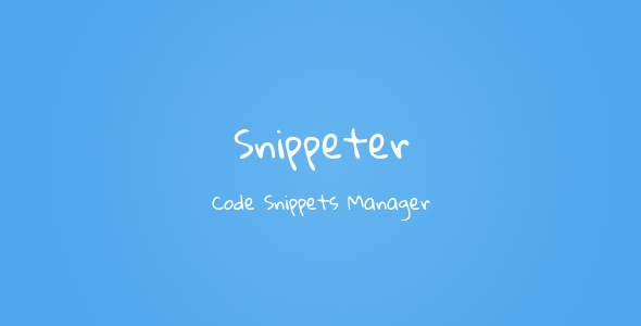 Snippeter - Code Snippets Manager