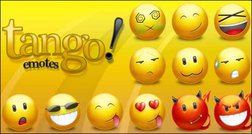 Tango Emotes Free Emoticons Smiley Icon Pack