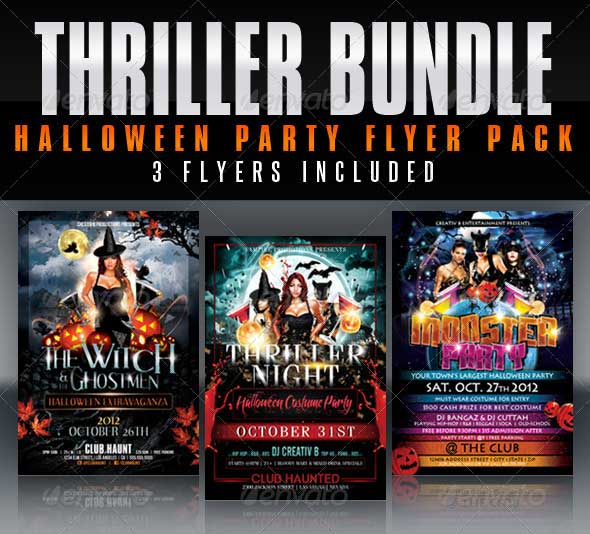 Thriller-Halloween-Party-Flyer-Bundle