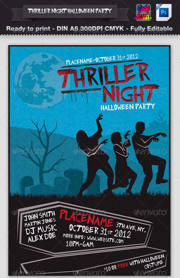 Thriller-Night-Halloween-Party-Flyer